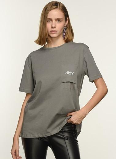 NGSTYLE Ngkss21Ts0041 Cep Detaylı Tshirt Antrasit